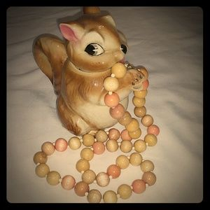 Vintage Wooden Beaded Necklace Beads